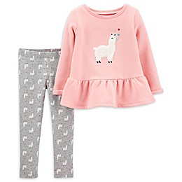 carter's® 2-Piece Llama Top and Legging Set in Pink