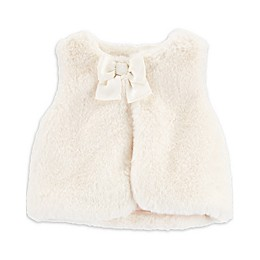 OshKosh B'gosh® Faux Fur Vest in Cream