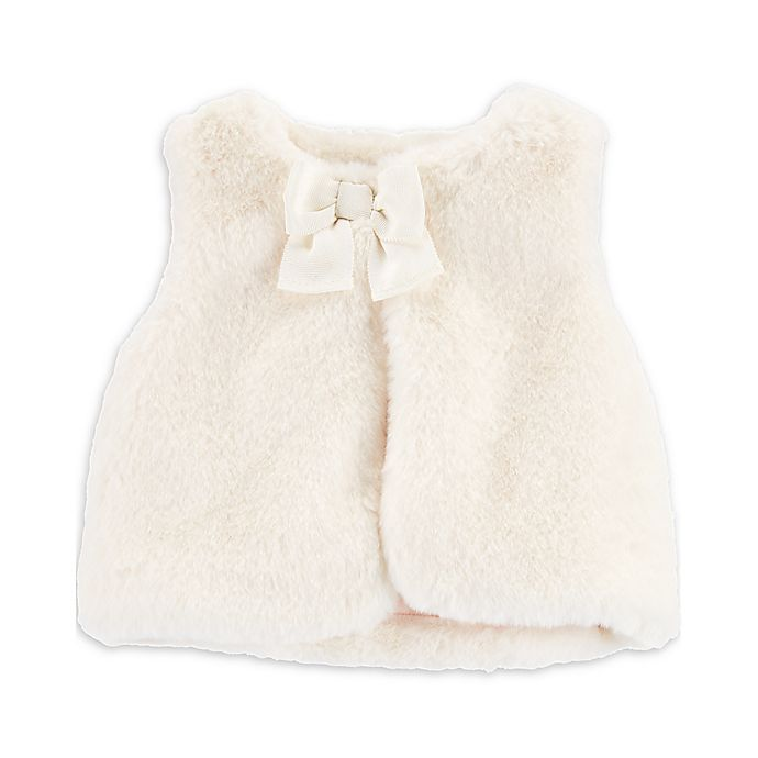 Alternate image 1 for OshKosh B'gosh® Faux Fur Vest in Cream
