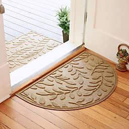 Weather Guard™  Brittney Leaf 24-Inch x 39-Inch Half Oval Door Mat