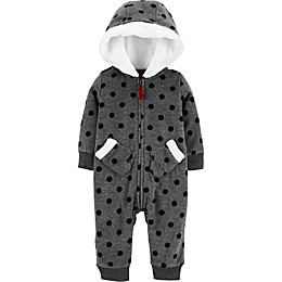 carter's® Black Dots Coverall in Heather