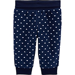 carter's® Heart Fleece Pant in Navy