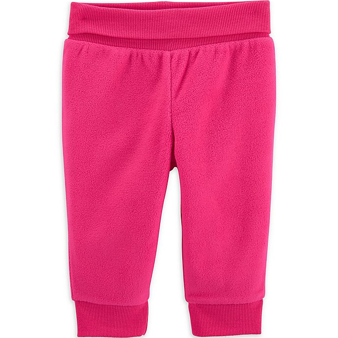 Alternate image 1 for carter's® Fleece Pant in Pink