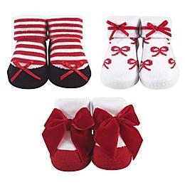 Hudson Baby® 3-Pack Bow Socks in Black