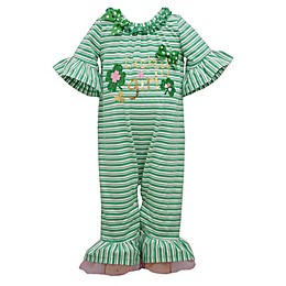 "Bonnie Baby ""Lucky Girl"" Dress in Green"