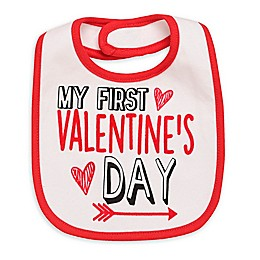 "Baby Starters® ""My First Valentine's Day"" Bib in White"