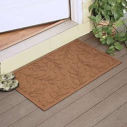 Weather Guard™  Brittney Leaf 23-Inch x 35-Inch Door Mat in Dark Brown