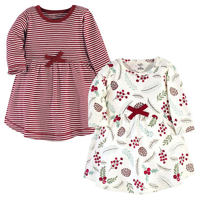 Alternate image 1 for Touched by Nature® 2-Pack Long Sleeve Organic Cotton Dresses
