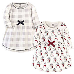 Touched by Nature® Size 18-24M 2-Pack Snowman Long Sleeve Organic Cotton Dresses
