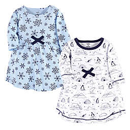 Touched by Nature Size 12Y 2-Pack Organic Cotton Arctic Holiday Dress Set