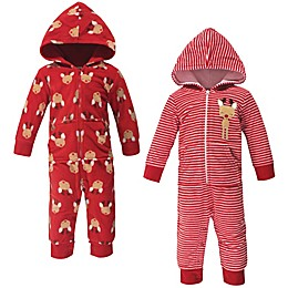 Hudson Baby® 2-Pack Festive Fleece Coveralls
