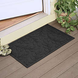 Weather Guard™  Brittney Leaf 23-Inch x 35-Inch Door Mat in Charcoal