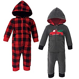 Hudson Baby® 2-Pack Christmas Fleece Coveralls