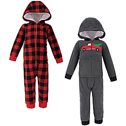 Hudson Baby® 2-Pack Christmas Fleece Coveralls