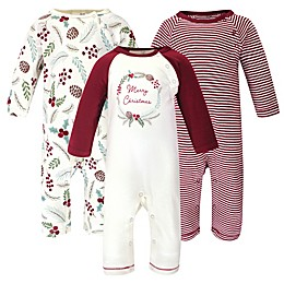 Touched by Nature® 3-Pack Holiday Organic Cotton Coveralls