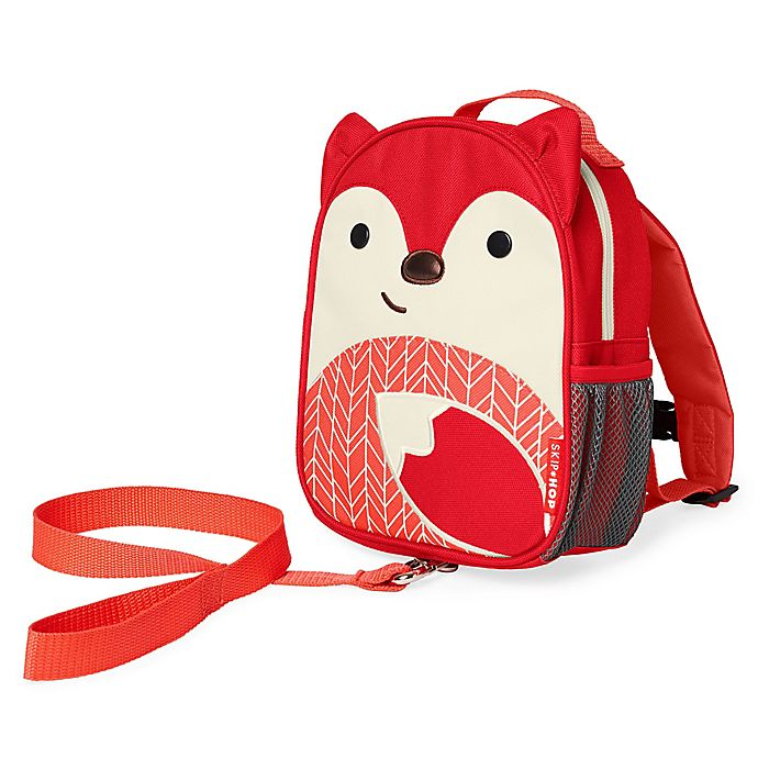 Alternate image 1 for SKIP*HOP® Zoo Fox Mini Backpack with Safety Harness in Red