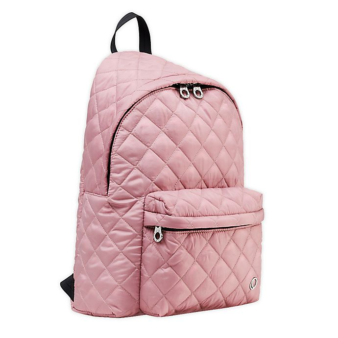 Alternate image 1 for Thea Thea Soleil Quilted Diaper Backpack in Sakura Pink