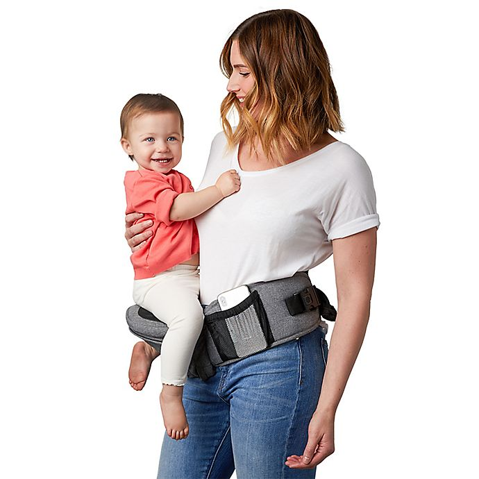 Alternate image 1 for TushBaby Front/Hip Baby Carrier