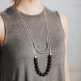Anjie+ash® Prince + Broadway Fashion Teething Necklace Set in Gray/Black