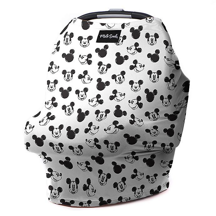 Alternate image 1 for Milk Snob® Multi-Use Mickey Sketch Car Seat Cover in Black/White