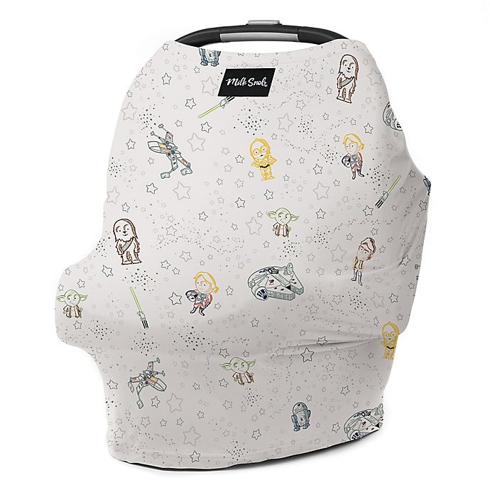 Alternate image 1 for Milk Snob® Multi-Use Star Wars™ Little Galaxy Car Seat Cover in Ivory