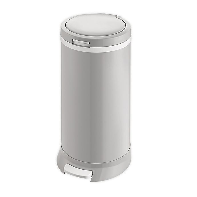 Alternate image 1 for Bubula™ Step Steel Diaper Pail in Grey
