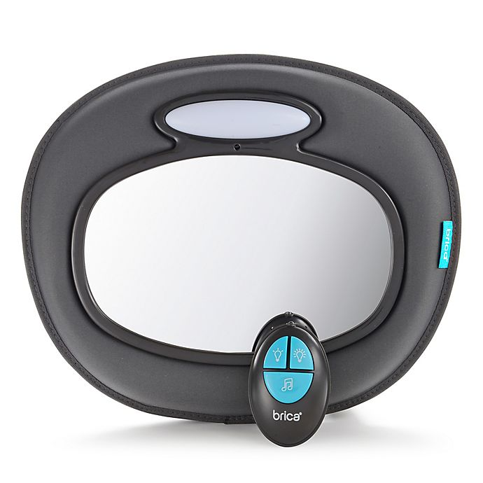 Alternate image 1 for Brica® Night Light™ Baby-In-Sight® Musical Mirror in Black