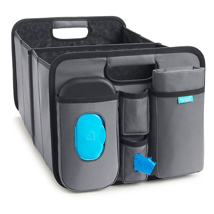 Alternate image 1 for Brica® Out-N-About™ Trunk Organizer & Changing Station in Black