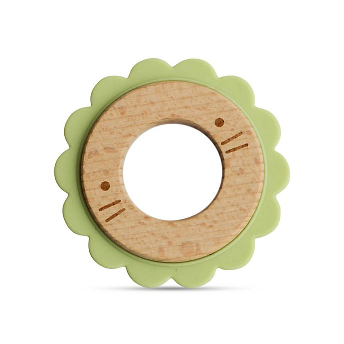 Alternate image 1 for Little Rawr™ Silicone and Wood Critter Teething Ring