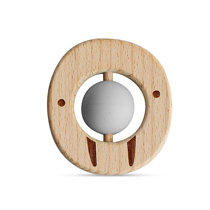 Alternate image 1 for Little Rawr™ Wood and Silicone Ball Animal Teether