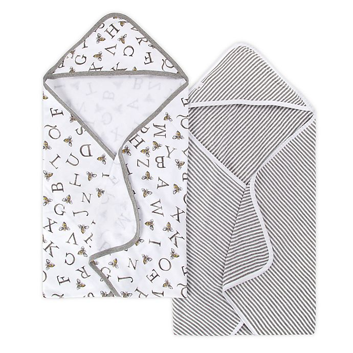 Alternate image 1 for Burt's Bees Baby® 2-Pack Organic Cotton Hooded Towels