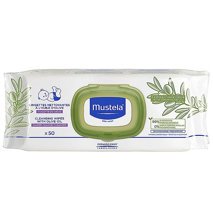 Alternate image 1 for Mustela® 50-Count Cleansing Wipes with Olive Oil