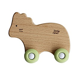 Little Rawr™ Wood and Silicone Wheelie Animal Teether