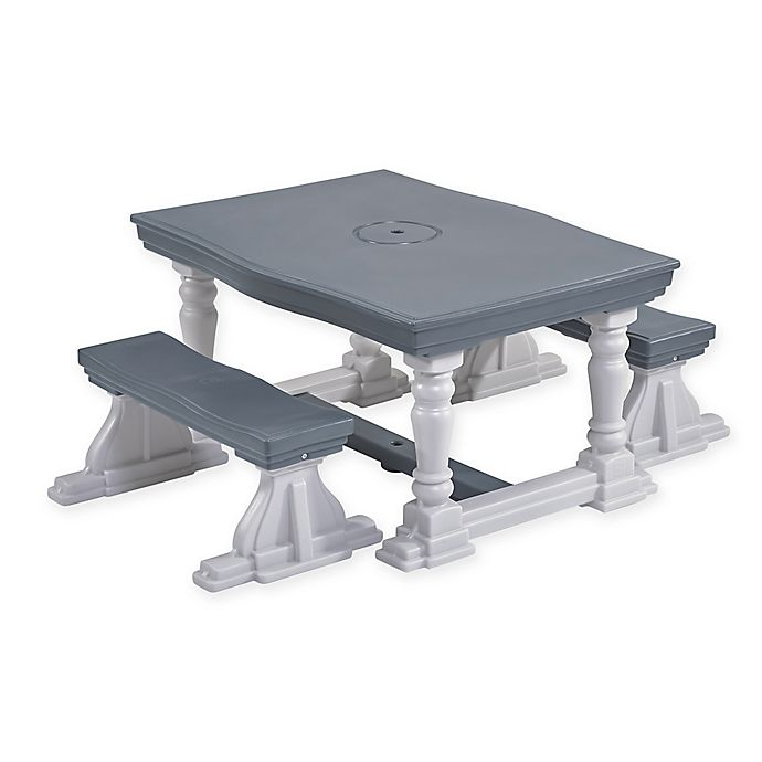 Alternate image 1 for Step2® 3-Piece Farmhouse Table and Bench Set