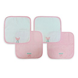 Neat Solutions 4-Pack Woven Washcloths in Pink