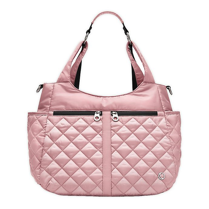 Alternate image 1 for Thea Thea Luna Quilted Diaper Tote in Pink