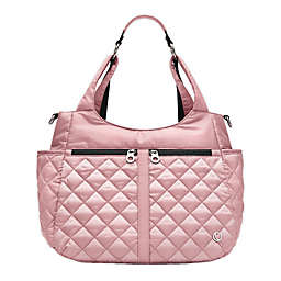 Thea Thea Luna Quilted Diaper Tote in Pink
