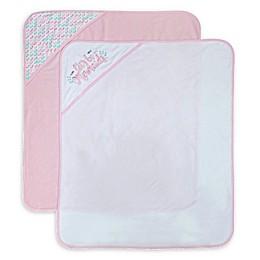 Neat Solutions 2-Pack Mermaid Hooded Towels in Pink