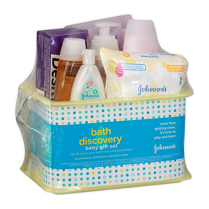 Alternate image 1 for Johnson's 7-Piece Bath Discovery Baby Gift Set