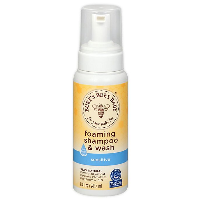 Alternate image 1 for Burt's Bees™ 8.4 fl.oz. Baby Foaming Shampoo and Wash