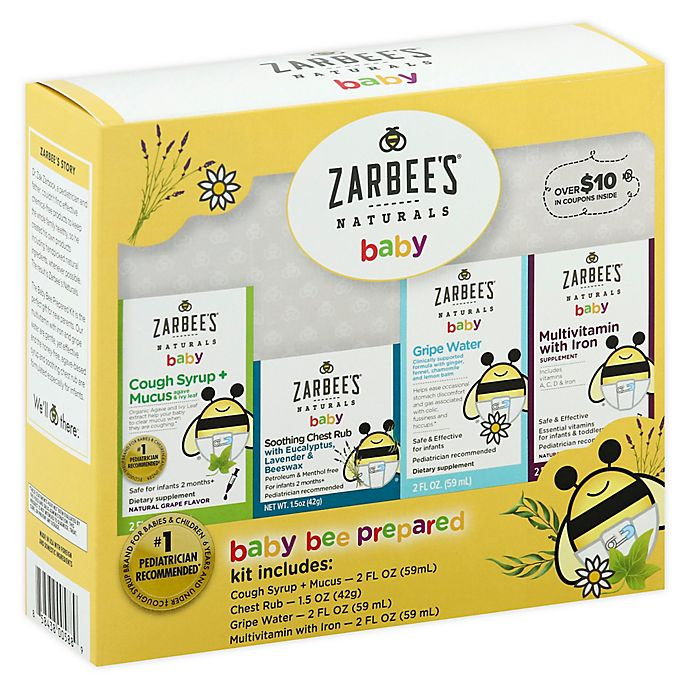 Alternate image 1 for Zarbee's® Naturals 4-Piece Baby Bee Prepared Kit