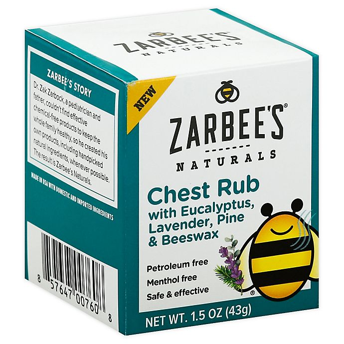 Alternate image 1 for Zarbee's® Naturals 1.5 oz. Children's Soothing Chest Rub Eucalyptus Lavender and Beeswax