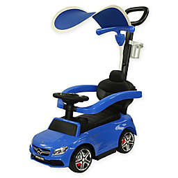 Evezo Mercedes Coupe Ride-On Push Car with Canopy in Blue