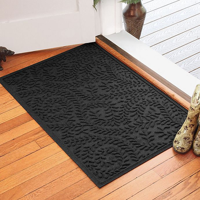 Alternate image 1 for Weather Guard™ Boxwood 30-Inch x 45-Inch Door Mat in Charcoal