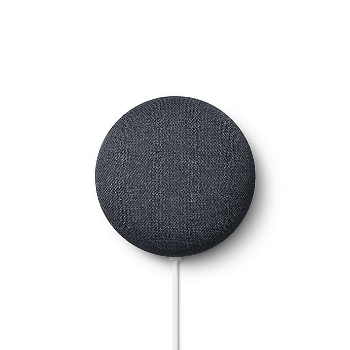 Alternate image 1 for Google Nest Mini 2nd Generation with Google Assistant in Charcoal