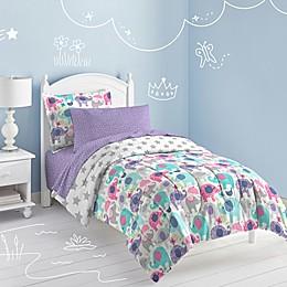 Dream Factory Elly Elephant Full Comforter Set in Purple