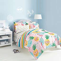Dream Factory Pineapple Comforter Set in Pink