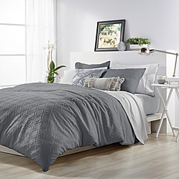 Microsculptä Ogee Comforter Set in Charcoal