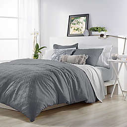 Microsculptä Ogee King Comforter Set in Charcoal