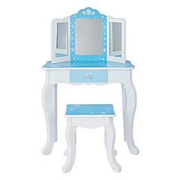 Teamson Kids Snowflakes Toy Vanity Set in Blue